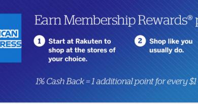 Rakuten(Ebates)的额外70%返现方法,使用美国运通点数
