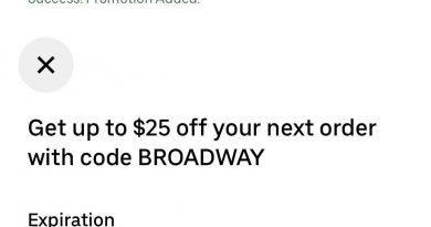 Uber Eates 优惠券$25off 新老用户都适用